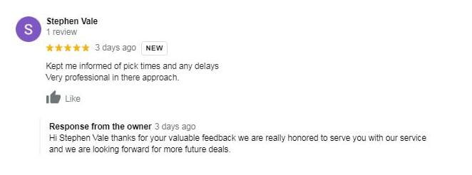 Verified customer reviews