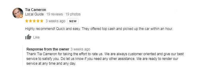 Cash for scrap cars logan customer review