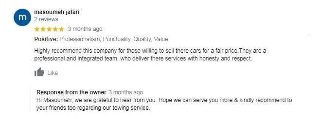 Happy customer satisfaction reviews
